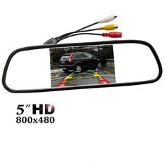 "Easy Installation Car Rear View Mirror Monitor 5"" TFT - LCD Display Screen"