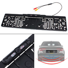 High Resolution Car Rear View Camera System EU Car License Plate Frame